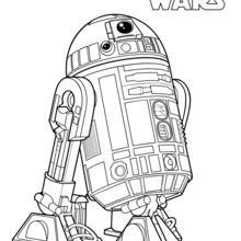 Dibujo para colorear : R2-D2, el droide