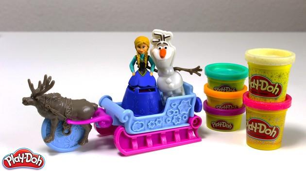 Manualidad infantil : Anna de Frozen de plastilina