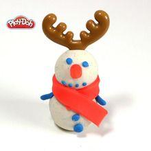 Manualidad infantil : Navidad moldeado con plastilina