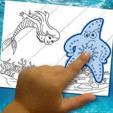 Imaginar un dibujo para pintar del mundo acuático
