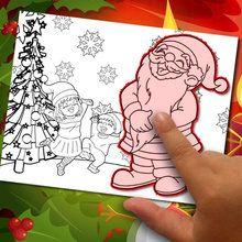 Crear un dibujo de Navidad para pintar