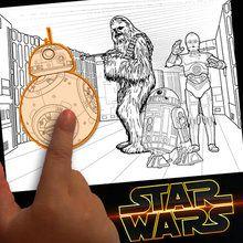 Dibujo para colorear : Crear un juego de Star Wars para pintar