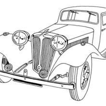 Dibujo para colorear : coche viejo