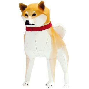 Perro Shiba de papel 3D