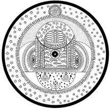 India cósmica esferas mandala