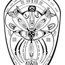 Dibujo para colorear : Mandala de la Polinesia