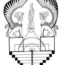 Dibujo para colorear : Mandala Esfinge Egipcia