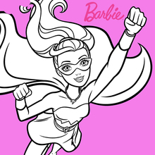 Dibujo para colorear : Súper Barbie el poder del diamante