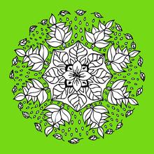 Mandala de la flor del duende