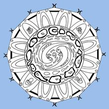 Dibujo para colorear : Mandala de la energía del agua