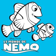 Dibujo para colorear : Los peces Marlin, Dory y Nemo