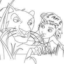Dibujo para colorear : BAGHEERA la pantera