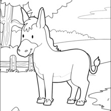 Dibujos Para Colorear Burro Eshellokidscom
