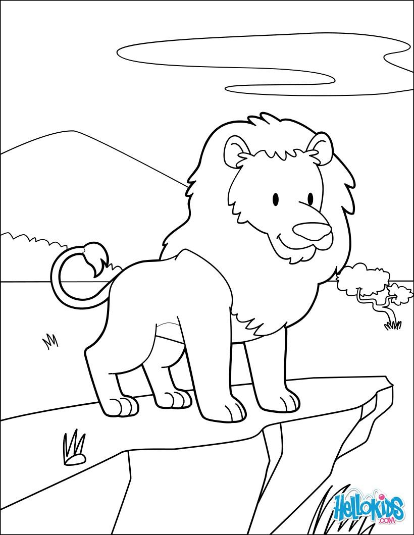 Dibujos Para Colorear Del Rey Leon. Dibujo Para Colorear El Rey Len ...