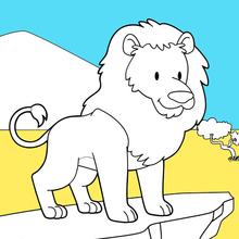Dibujo para colorear : Rey Leon