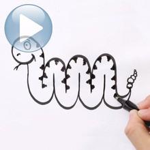 Consejo para dibujar : Dibujar una serpiente empezando desde carta M