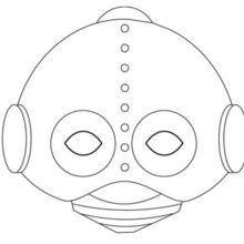 máscara de robot
