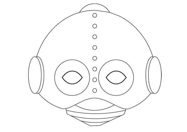 Manualidad infantil : máscara de robot