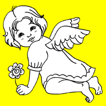 un angelito navideño