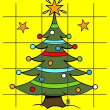 Puzzle en línea : Árbol de Navidad