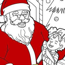 Dibujo para colorear : Santa se está riendo
