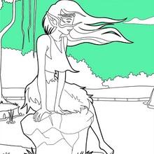 Dibujo para colorear : Elfo del lago