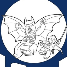 Dibujo para colorear : LEGO Batman