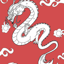 Dibujo para colorear : Dragon Chino