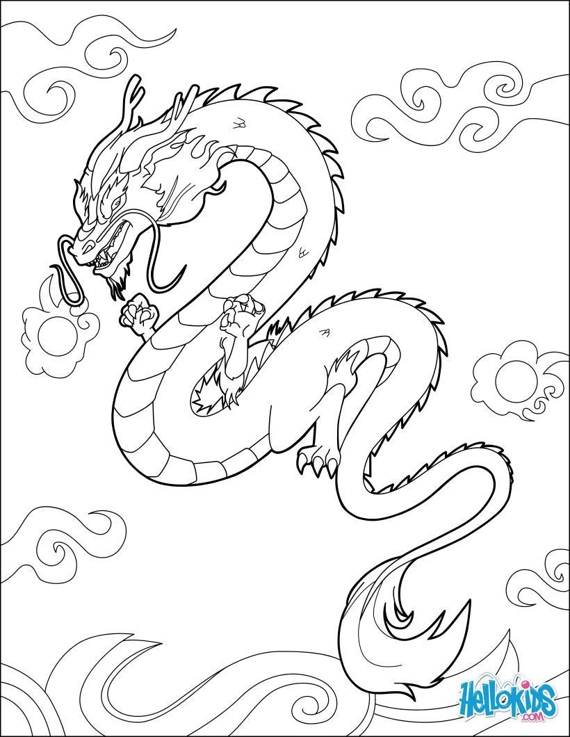 Lujoso Dragón De China Para Colorear Imágenes - Dibujos Para ...