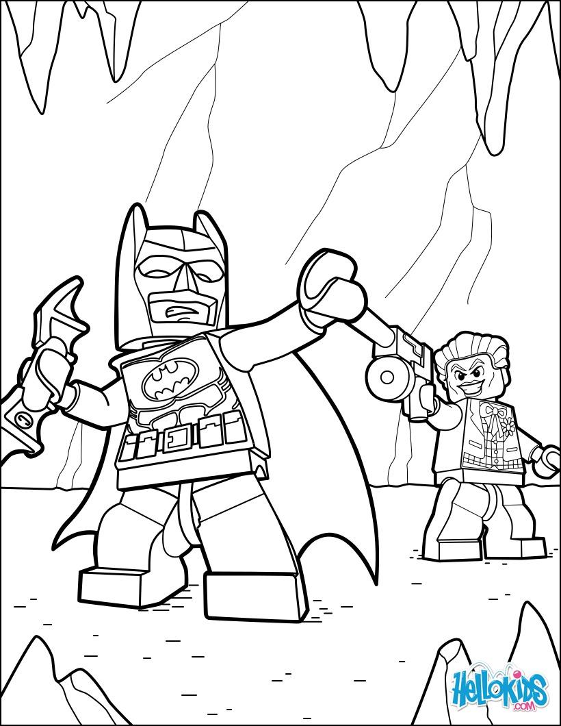 Dibujos para colorear lego batman & joker - es.hellokids.com