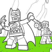 Dibujo para colorear : LEGO Batman & Joker