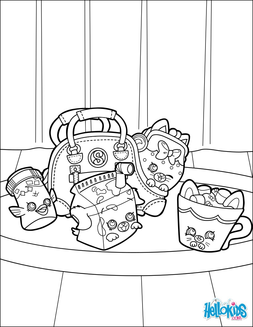 Dibujo para colorear : Brunch de Shopkin