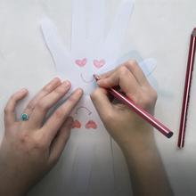 Manualidad infantil : Tarjeta del día de San Valentín