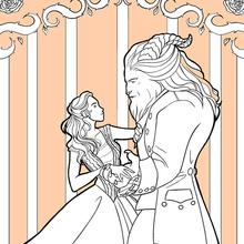 Dibujo para colorear : La Bella y la Bestia
