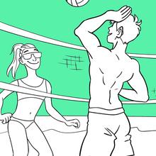 Dibujo para colorear : Voleibol