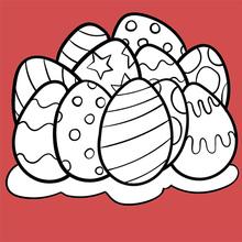 Dibujo para colorear : Huevos de Pascua