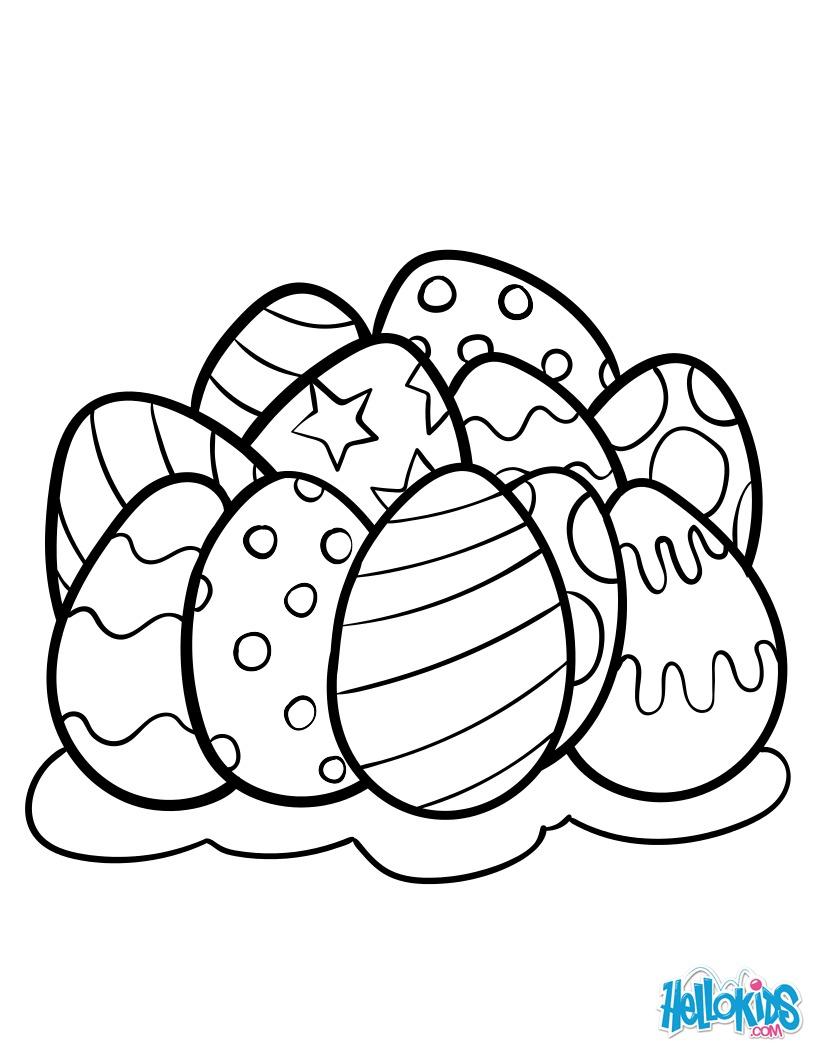 Dibujos para colorear huevos de pascua - es.hellokids.com