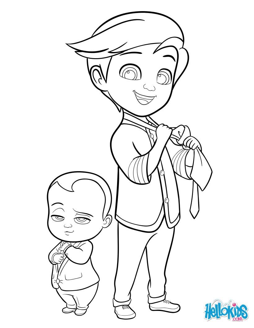 Dibujo para colorear : Boss Baby e Tim