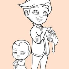 Dibujo para colorear : Boss Baby et Tim