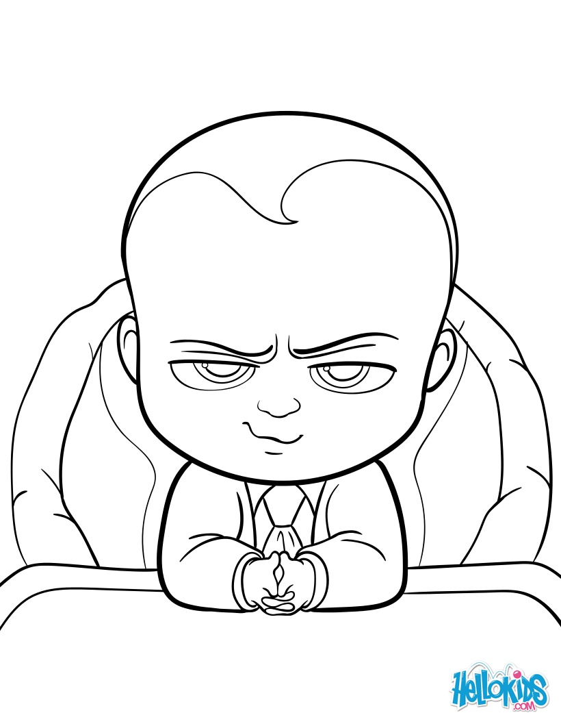 Dibujos para colorear boss baby - es.hellokids.com