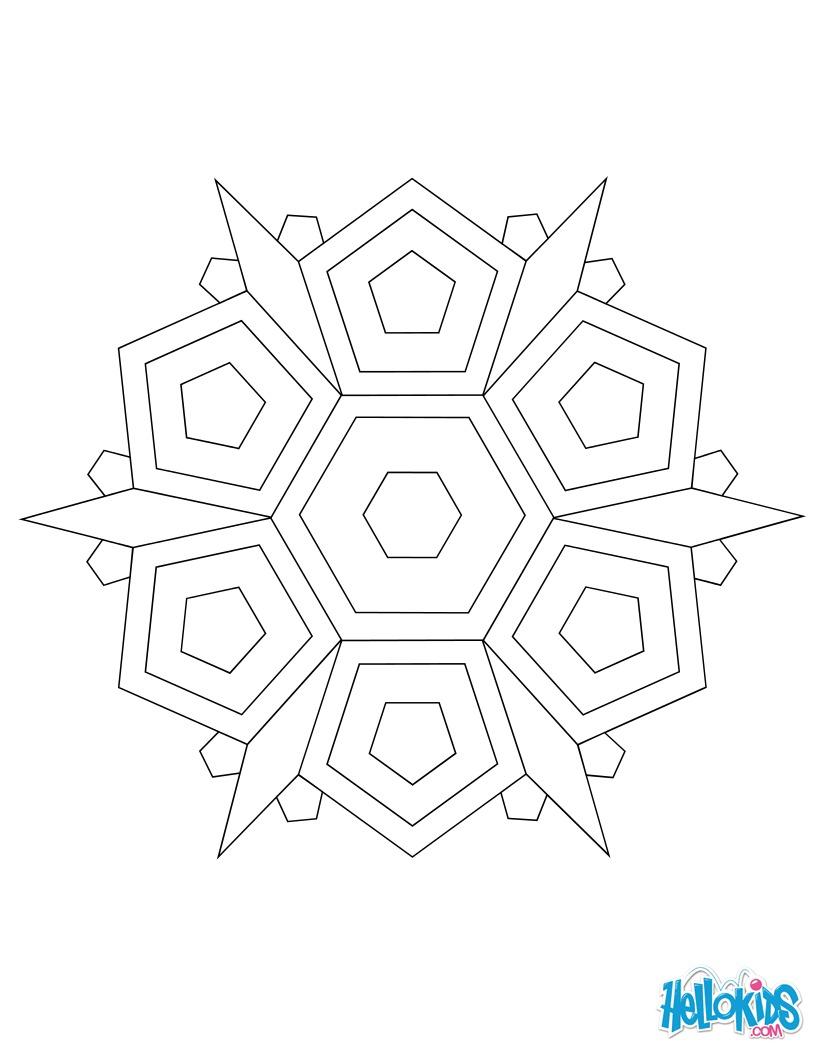 Dibujo para colorear : Mandala