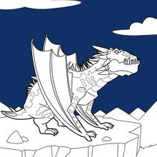 Dibujo para colorear : Dragón de la noche