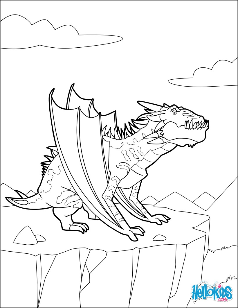 Famoso Página Para Colorear Dragon Breathing Fire Viñeta - Dibujos ...