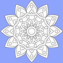 Dibujo para colorear : Mandala 02