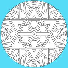 Dibujo para colorear : Mandala 03