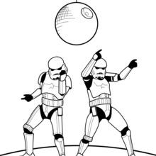 Dibujo para colorear : Bailando Stormtroopers