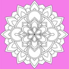 Dibujo para colorear : Mandala 04