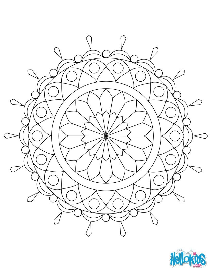 Dibujo para colorear : Mandala 05