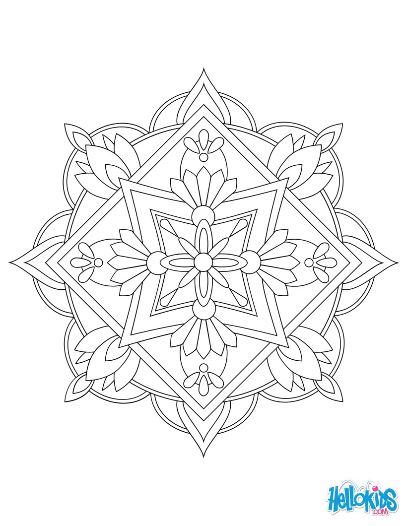 Dibujo para colorear : Mandala 06