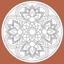 Dibujo para colorear : Mandala 07
